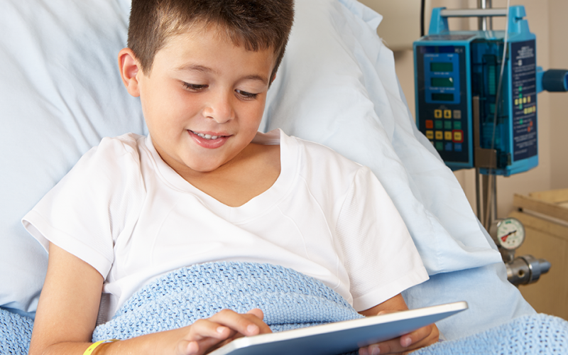 Health app helps children relax before surgery