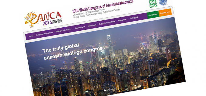 28 August – 2 September 2016 WFSA World Congress of Anesthesiologists 2016