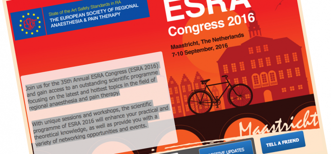 7–10 September 2016 – ESRA Congress 2016