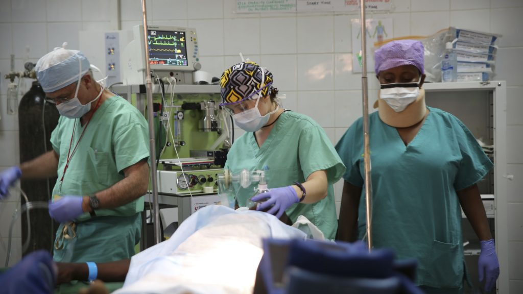 Photo: The Glostavent provides reliable anaesthesia for fistula repair surgery in Rwanda