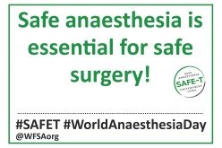 WFSA to raise awareness for safe anaesthesia on World Anaesthesia Day 2016