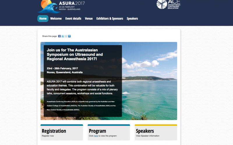 23-26 February 2017 – Australasian Symposium on Ultrasound & Regional Anaesthesia (ASURA); Queensland