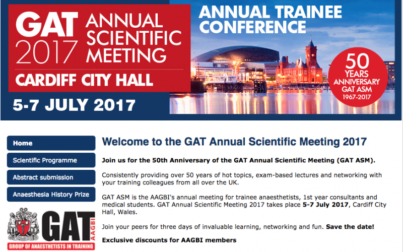 5–7 July 2017, GAT Annual Scientific Meeting; Cardiff
