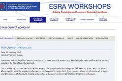 23 February 2017 – ESRA workshops, Pain Cadaver Information; Austria
