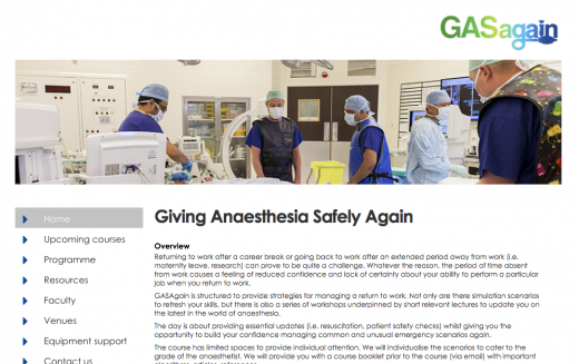 21 February 2018 – GASAgain (Giving Anaesthesia Safely Again); Bradford