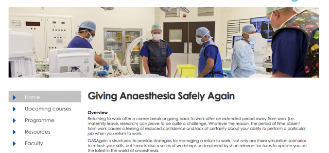13 June 2018 – GASAgain (Giving Anaesthesia Safely Again); Bournemouth