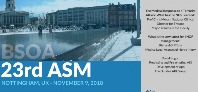 9 November 2018, BSOA Annual Meeting; Nottingham