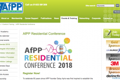 9-12 August 2018, AfPP Residential Conference; York