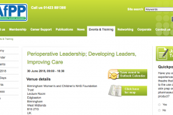 30 June 2018, Perioperative Leadership; Developing Leaders, Improving Care; Birmingham