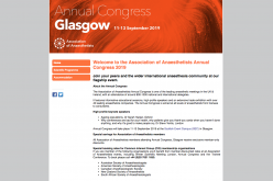 11-13 September 2019, Association of Anaesthetists Annual Congress 2019; Glasgow