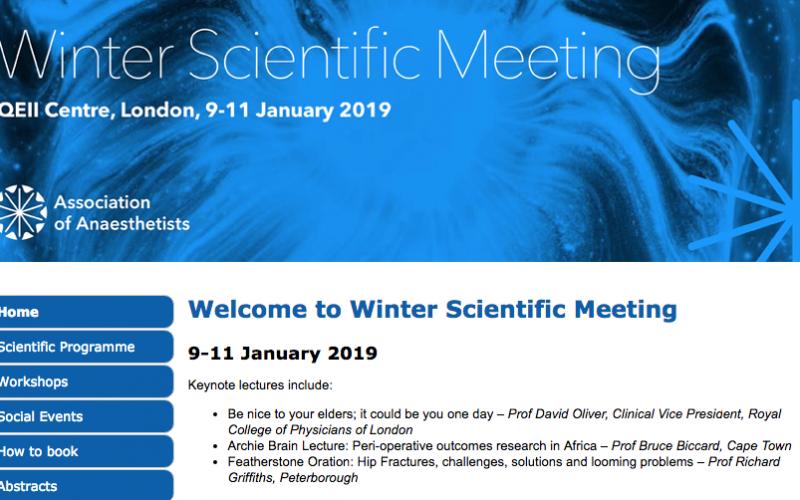 9-11 January 2019, Winter Scientific Meeting; London