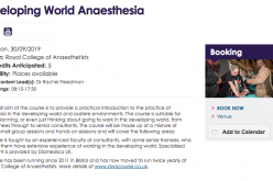 30 September 2019, Developing World Anaesthesia; London