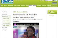 Stellar line-up of speakers confirmed for AfPP Residential Conference