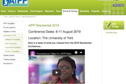 8-11 August 2019; AfPP Residential; York