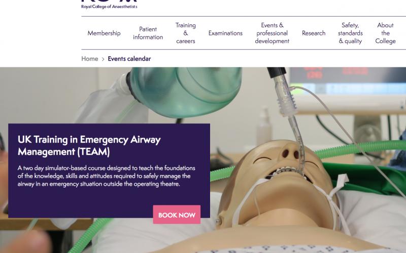 4-5 June 2020, UK Training in Emergency Airway Management (TEAM); Bath