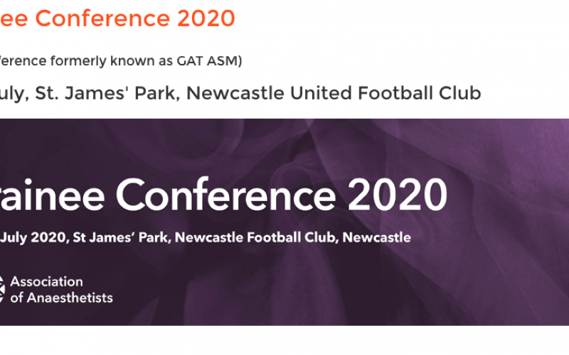 8-10 July 2020, Trainee Conference 2020; Newcastle