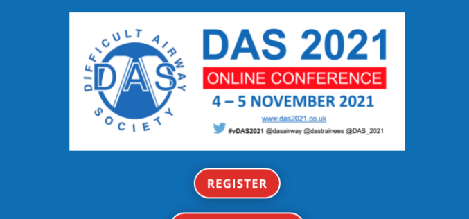 4–5 November 2021, Difficult Airway Society 2021; Online event