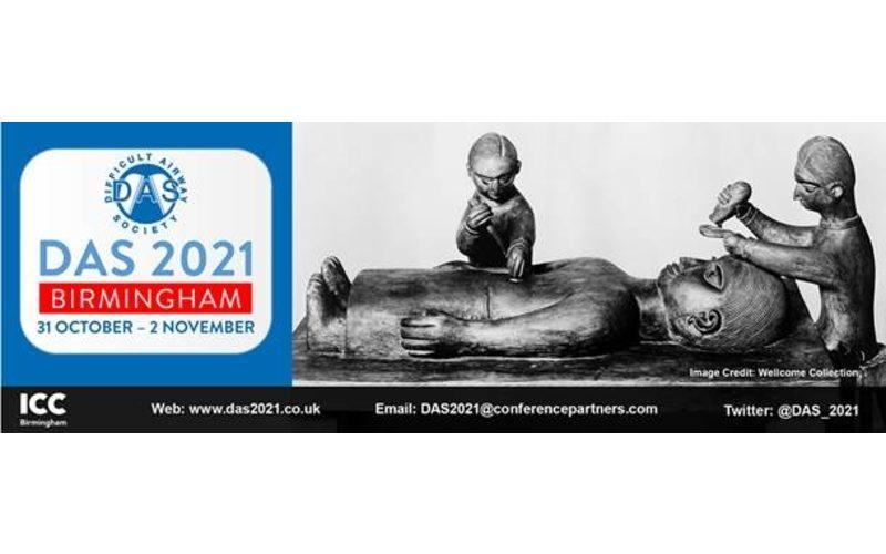31 October – 2 November 2021, Difficult Airway Society 2021; Birmingham