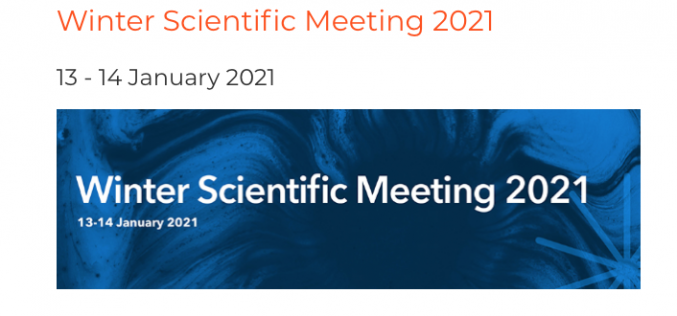 13-14 January 2021, Winter Scientific Meeting 2021; Virtual meeting